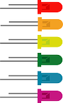 LED diodes in different colours